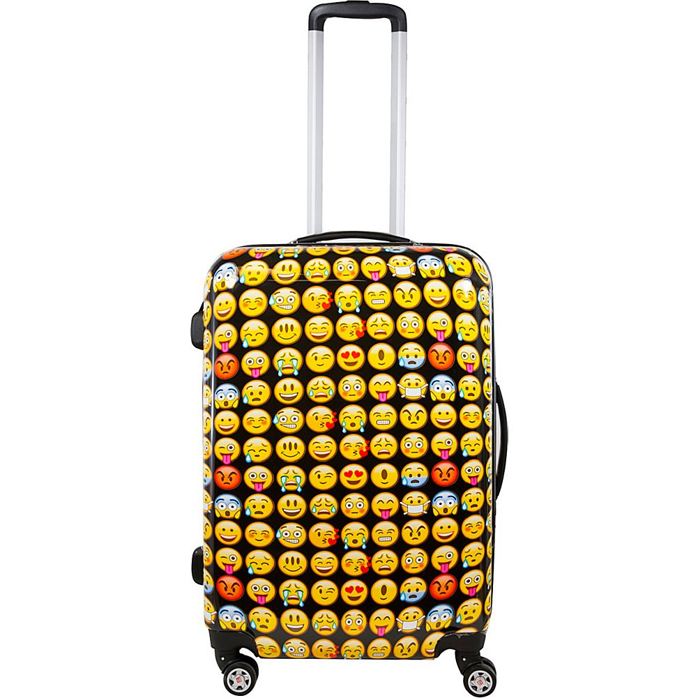 ful Emoji 28in Spinner Rolling Luggage Suitcase, Yellow by Ful