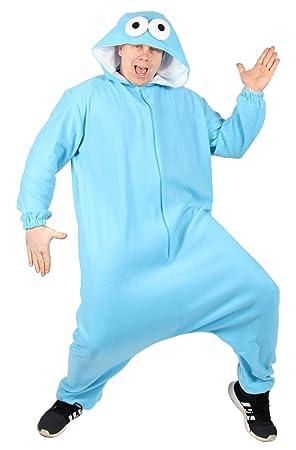 Foxxeo 40303 L Azul Monster Disfraz para Adultos L Tamaño S, M, L,