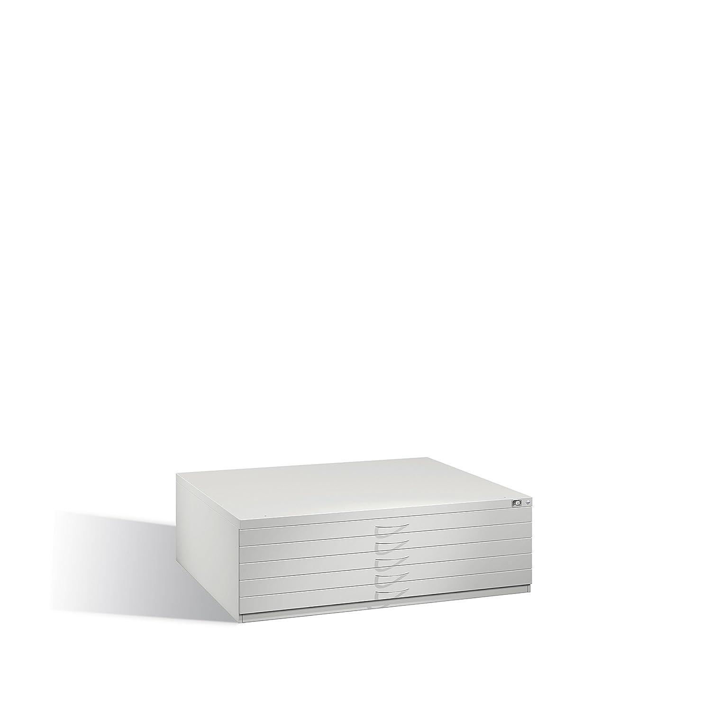 Stahl-Schubladenschrank Serie 7100_7200 als Flachablageschrank