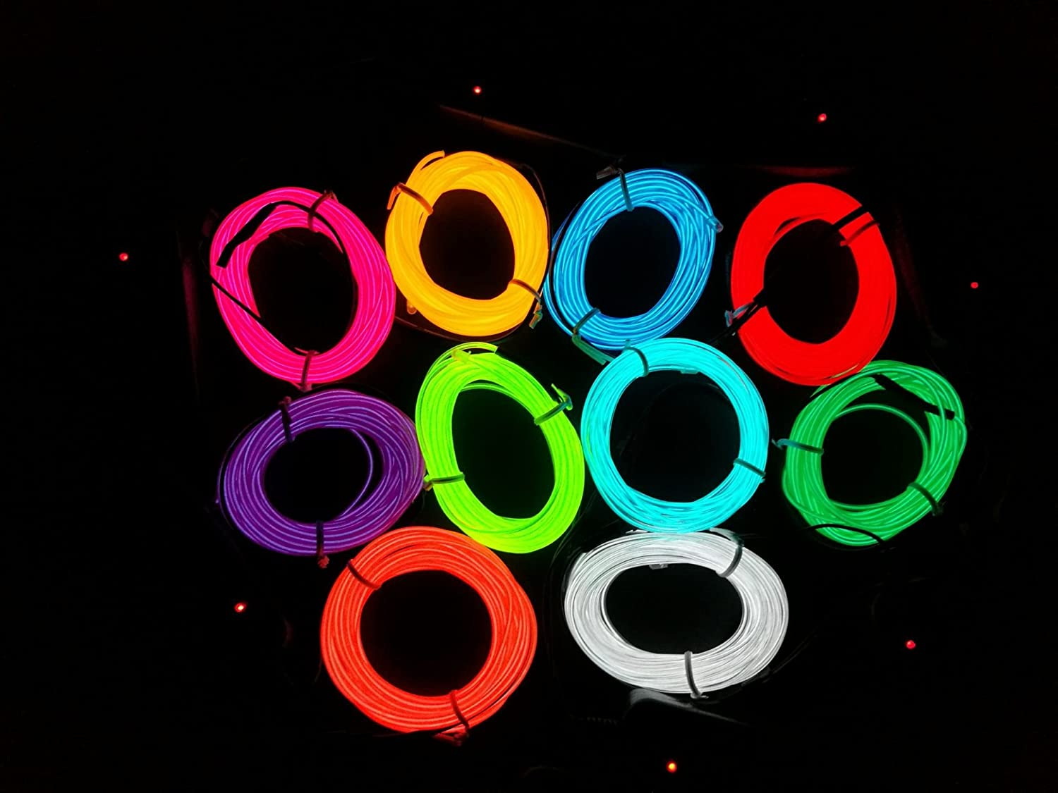 Mulucky m el wire tube rope battery powered flexible neon light