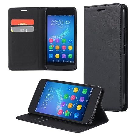 ECENCE Handyhülle Schutzhülle Case Cover kompatibel für Huawei Y3 Handytasche Schwarz 12010202