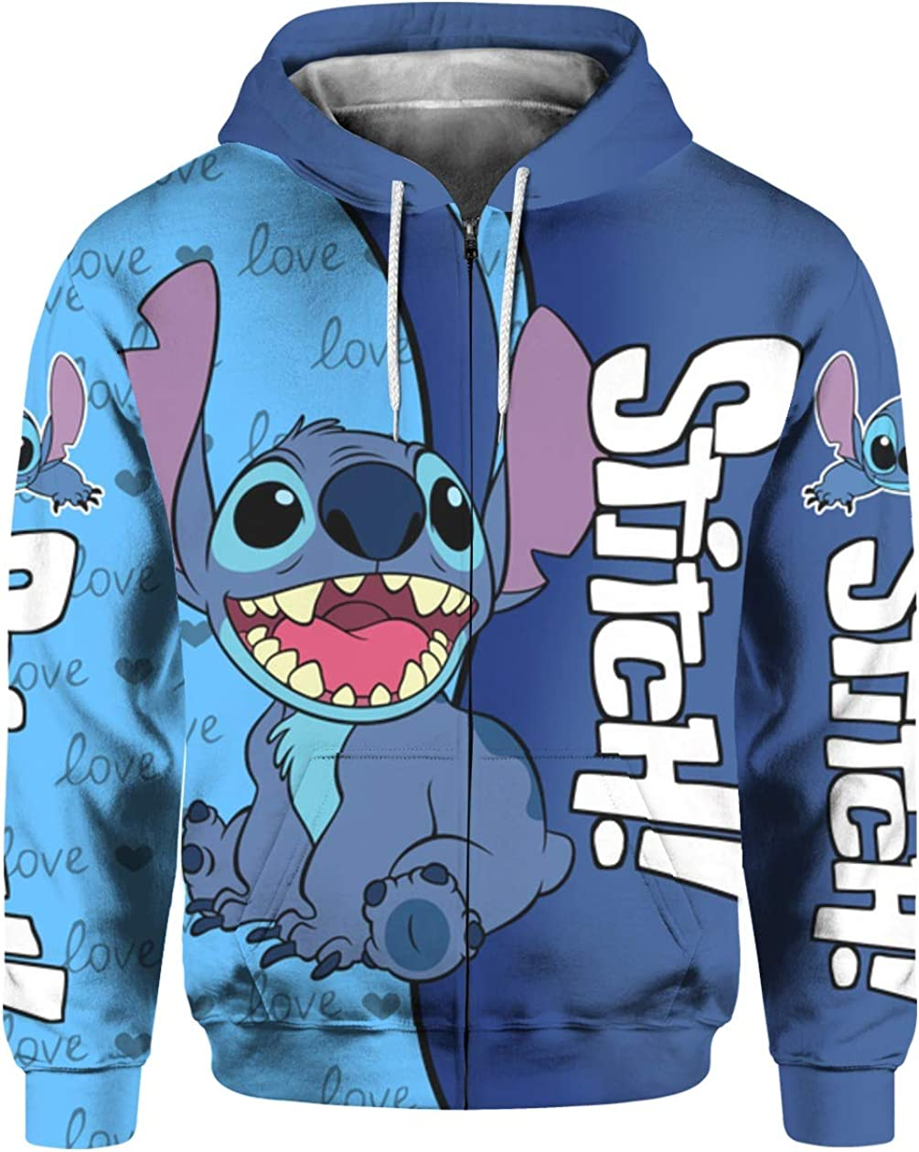 Stitch Blue 3D All Over Sublimation Printing Shirt