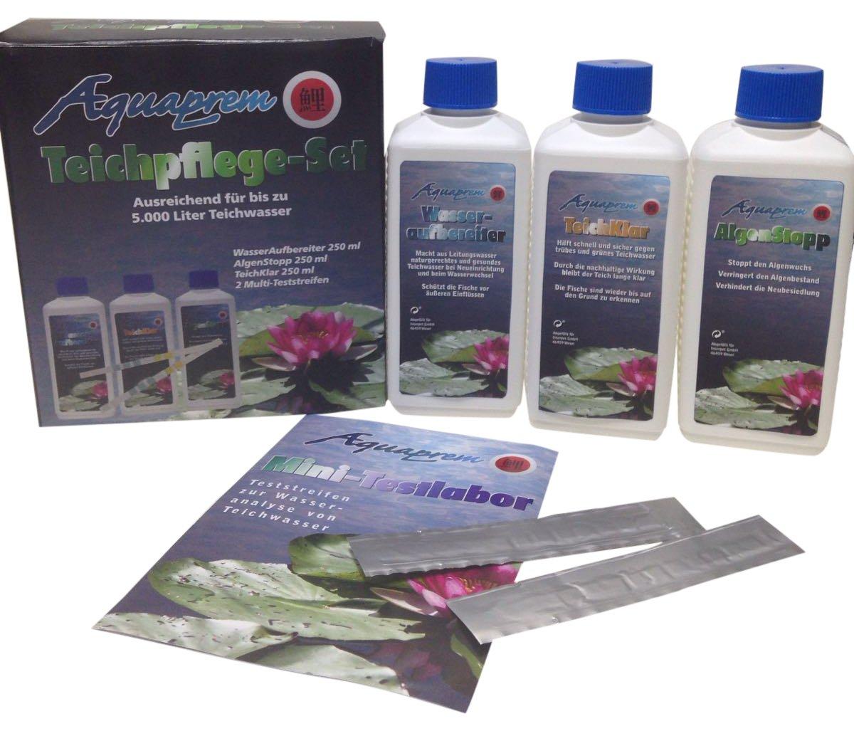 Aquaprem 1 Teichpflege Set Teichreiniger In 3 Phasen