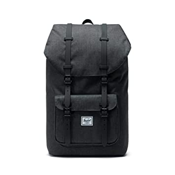 Mochila Herschel Little America Black Crosshatch/Black: Amazon.es: Deportes y aire libre