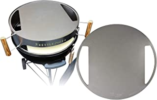 "product image for Made in USA KettlePizza Stainless Baking Steel - Steel Skillet/Lid for 22.5"" Kettle Grills"
