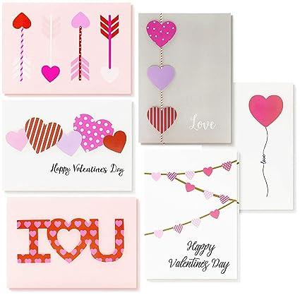 Tarjetas de San Valentín - 12 unidades - tarjetas de amor ...
