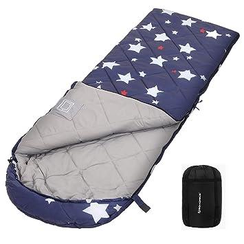 baby gute Qualität großer Diskontverkauf SONGMICS Schlafsack mit Kompressionsbeutel, Trekkingschlafsack für alle 4  Jahreszeiten, leicht, kompakt, mit Ultraschall-Nähten, Camping, Wandern,  mit ...