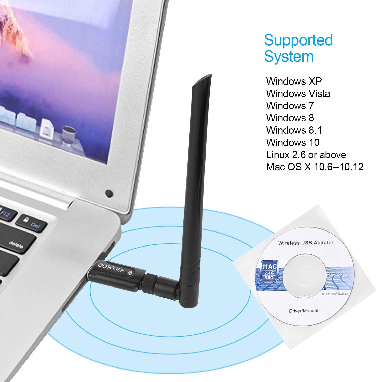 ghdonat.com OOWOLF USB WiFi Adapter 1200Mbps USB 3.0 Wireless WiFi ...