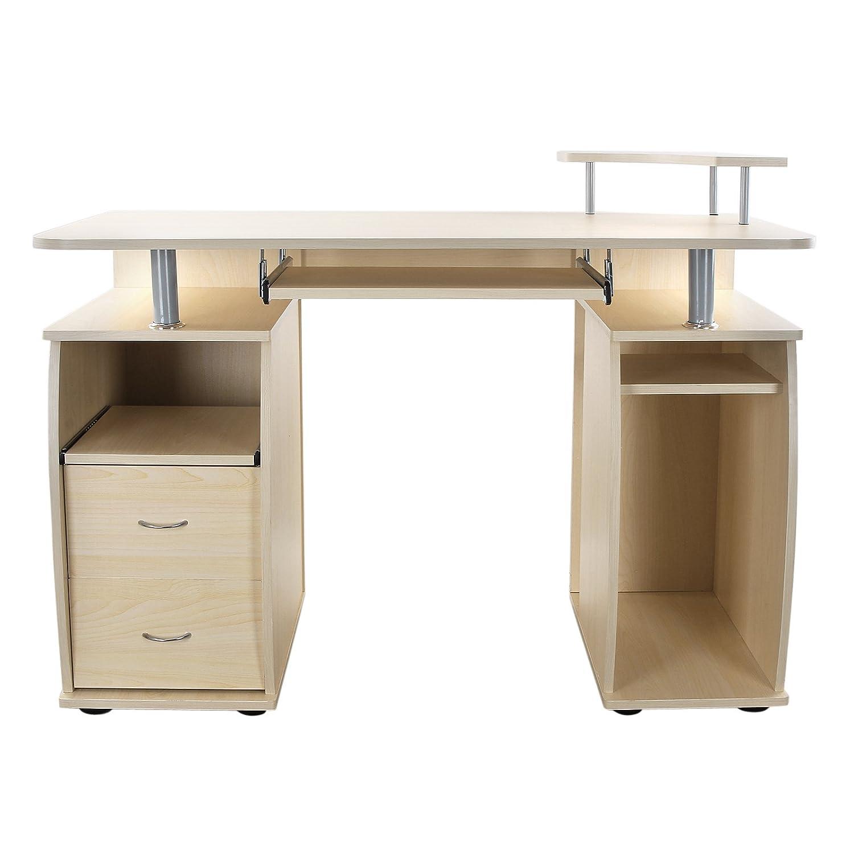 Ufficio scrivania Porta Pc mod. Printer ciliegio in MDF e acciaio ...