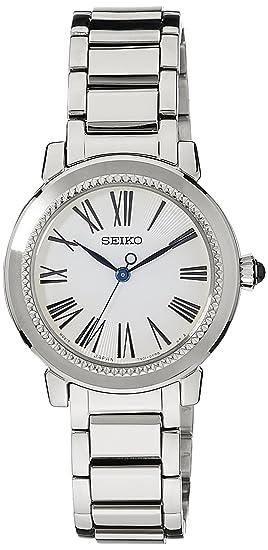 Seiko Reloj Analógico para Mujer de Cuarzo con Correa en Acero Inoxidable SRZ447P1: Amazon.es: Relojes
