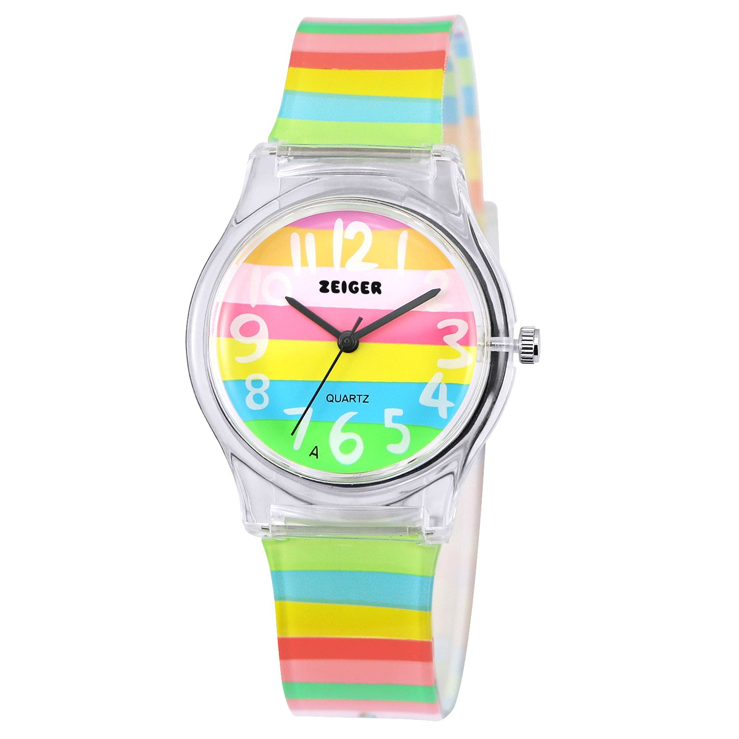 Zeiger KW082 Kids Children Young Girls Watch with Multi-Color Silicon Band Small Size