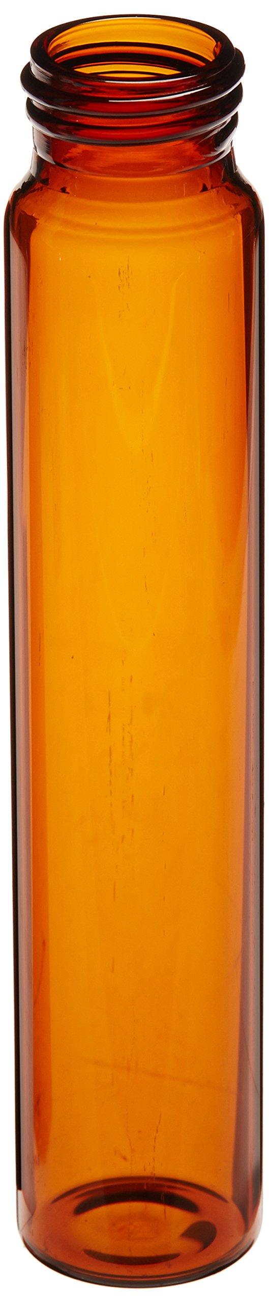 JG Finneran D0390-60 Borosilicate Glass Environmental VOA Vial, 60mL Capacity, Amber, 27mm Diameter x 140mm Length, 24-400mm Thread (Pack of 100)
