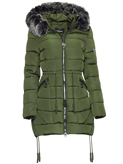 more photos 859c9 f98a6 TRISENS DAMEN WINTER PARKA JACKE LAND FELL KAPUZE WARM GEFÜTTERT TAILLIERT  PARKA