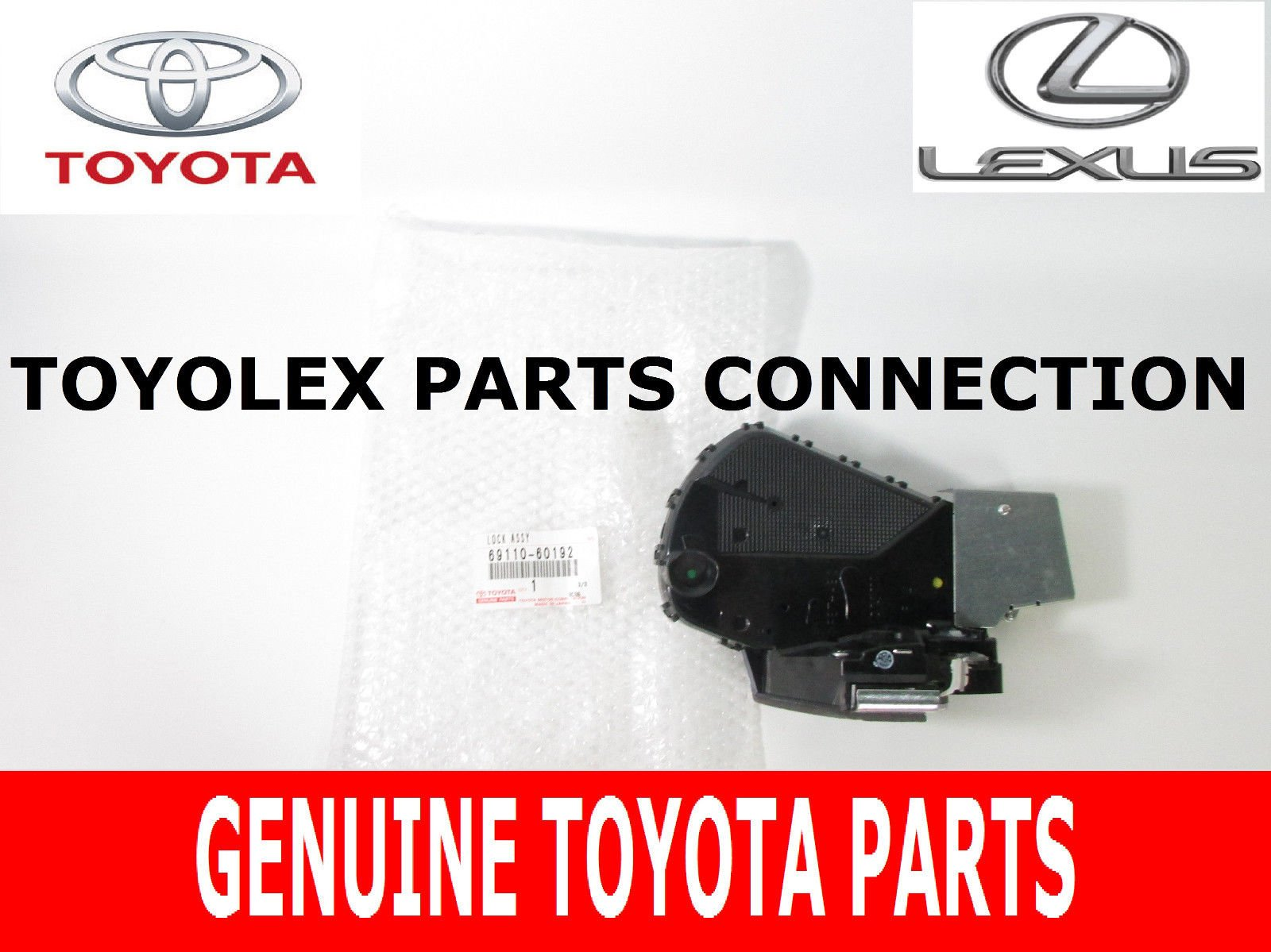 Genuine Toyota Rear Door Tailgate Lock Actuator for Lexus GX470 (69110-60192) by Toyota