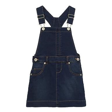 hoard as a rare commodity closer at coupon code Kids Girls' Blue Denim Dungaree Dress