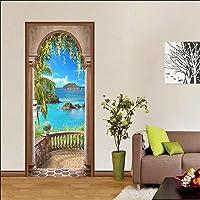 SJKstore 3D Deur stickers Zeezicht Deur muurschildering 77x200 cm Foto deur Verwijderbare Vinyl DIY Muur Deur Art Canvas…