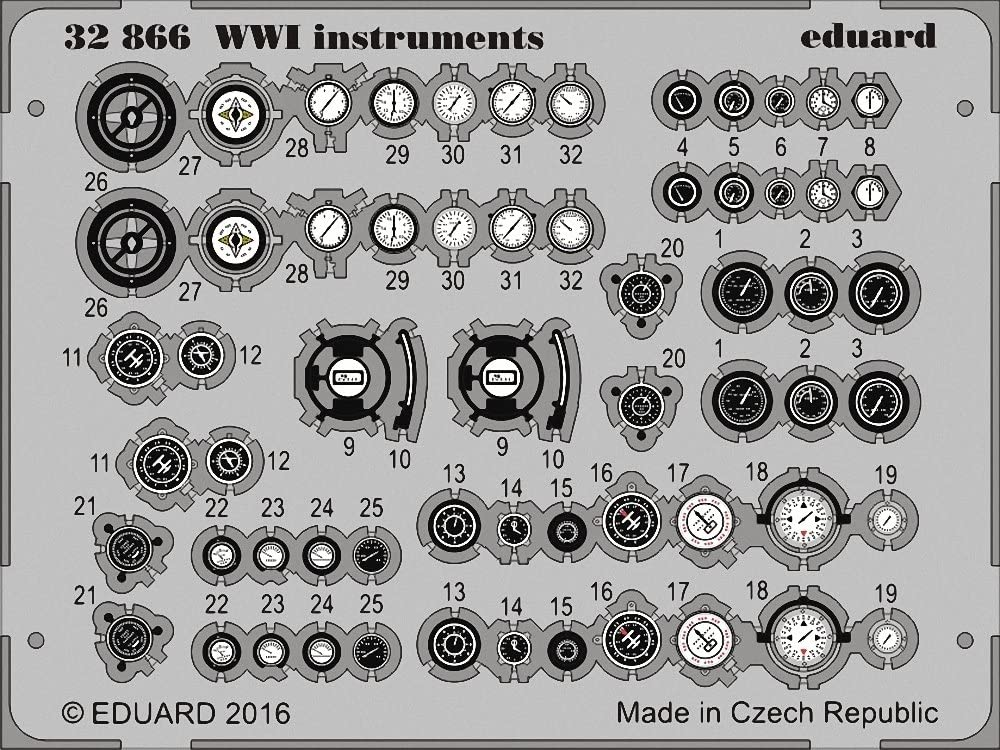 Eduard Photoetch 1:32 EDP32866 WWI Instruments
