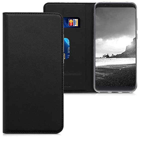 new products c5cc2 3e239 kwmobile Flip Case for Xiaomi Redmi 5 Plus/Redmi Note 5 (China) - Smooth PU  Leather Wallet Folio Cover with Stand Feature - Black
