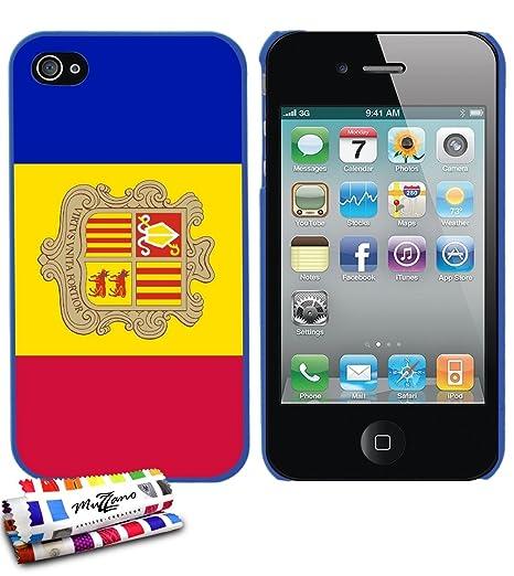 Amazon.com: GENUINE Extra-Slim rigid Blue Case Flag Andorra ...