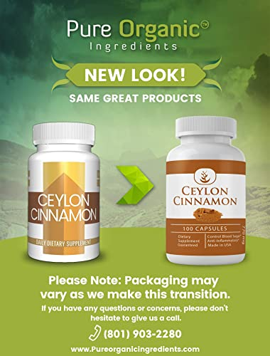 Ceylon Cinnamon, 100 Capsules, 770 mg Serving, No Fillers, Made in The USA, Lab-Tested, Gluten-Free, No Additives, Antioxidant-Rich, High Potency Ceylon Cinnamon