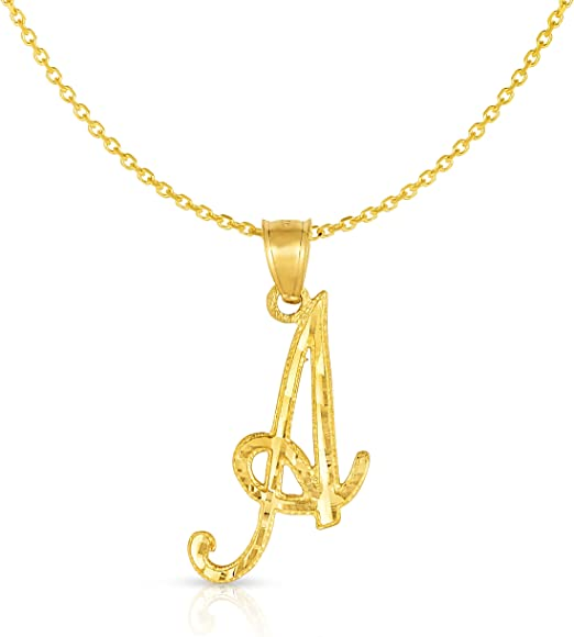 23 MM 18K YELLOW GOLD PENDANT CHARM INITIAL LETTER P MADE IN ITALY 0.9 INCHES