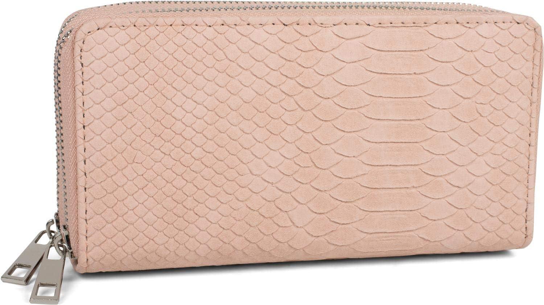 2 Cremalleras Circulares styleBREAKER Monedero de Mujer con /óptica de Piel de cocodrilo Cartera 02040126 Color:Beige