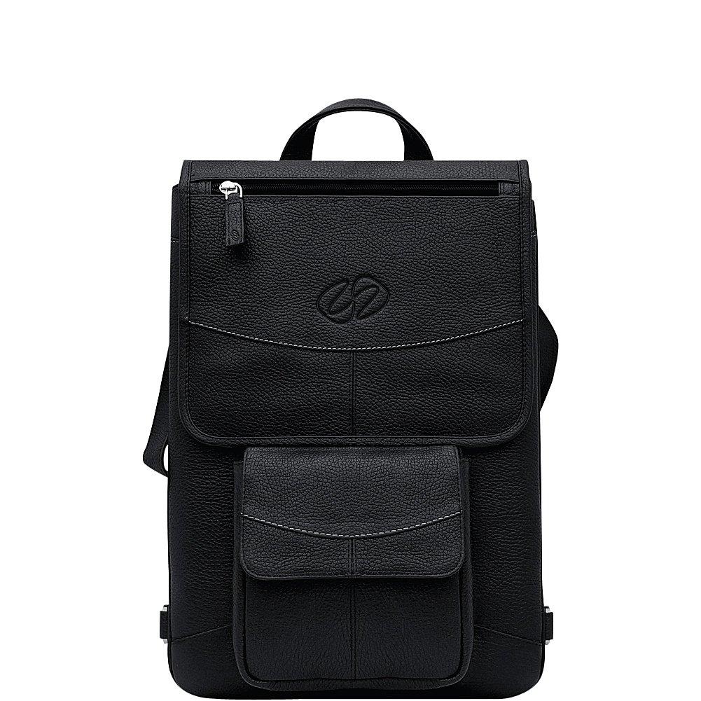 MacCase Premium Leather 12'' MacBook Flight Jacket + Backpack Option (Black) by MacCase