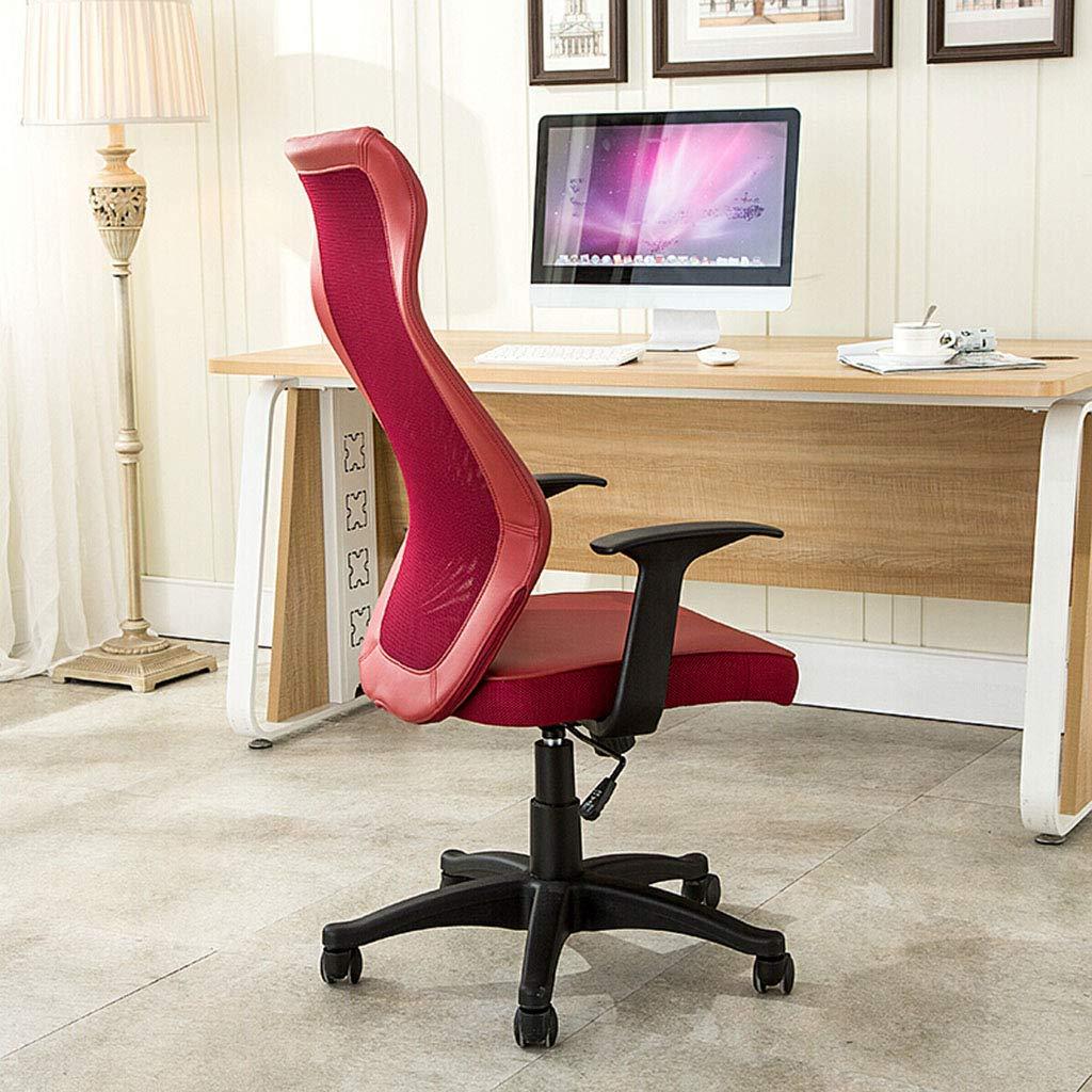 Kontorsstol dator kontorsstol hemstol ergonomisk stol personalstol barstol mottagningsstol röd, vit stol (färg: B) en