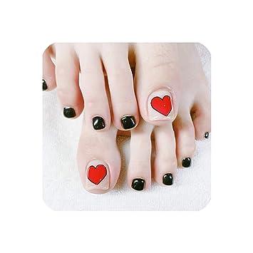 Amazon.com: Uñas postizas para los dedos de los pies, 24 ...
