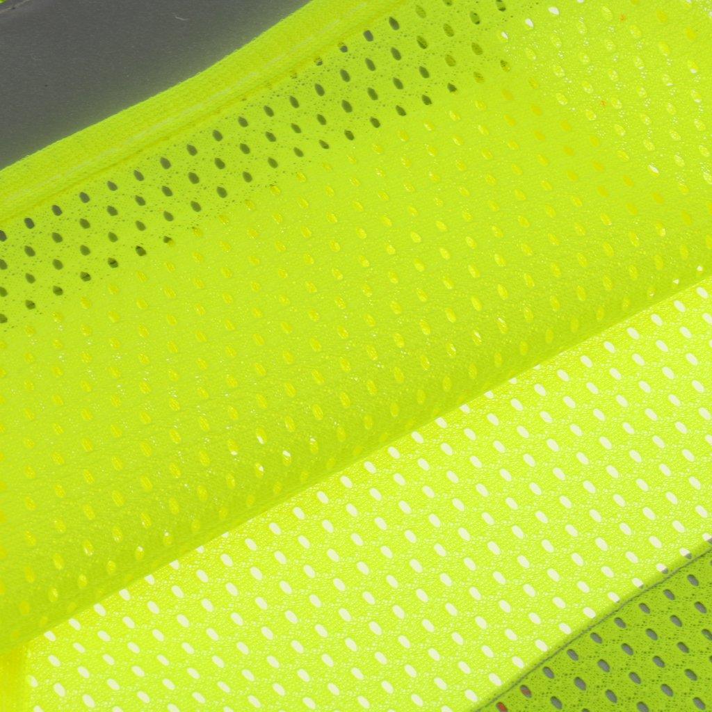 MagiDeal Giacca Gilet alta Visibilit/à Vest di Sicurezza Riflettente per Esecuzione Ciclismo Jogging Corsa Lavoro Notturno Fluo Giallo