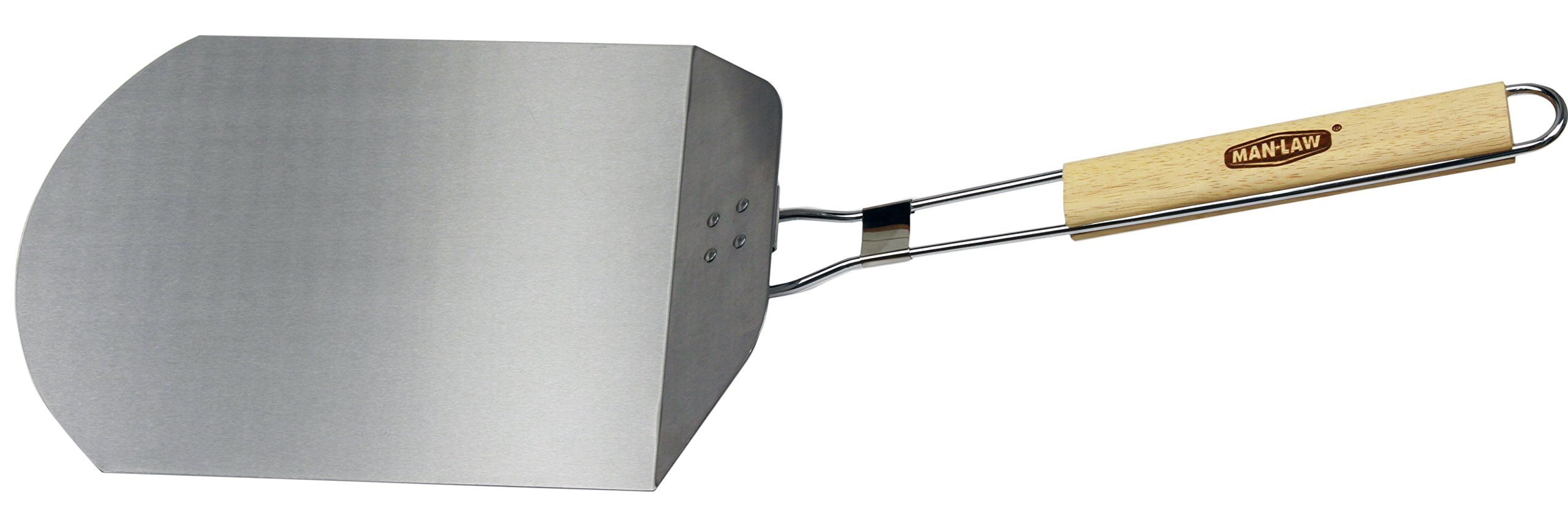 Man Law BBQ Products PP1 Series Foldable Pizza Peel, One Size, Aluminium/Stainless Steel and Wood