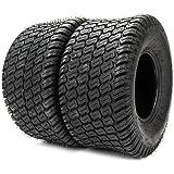 Set Of 2 Turf Tires 18X6.50-8 Lawn & Garden Mower Tractor Golf Cart Tubeless Tires 18-6.5-8 4 PR P322 Tubeless Load Range B