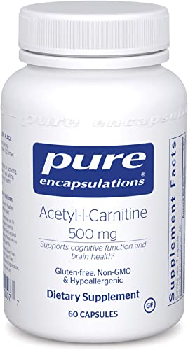 Pure Encapsulations – Acetyl-l-Carnitine 500 mg – Hypoallergenic Supplement to Promote Memory and Attention – 60 Capsules