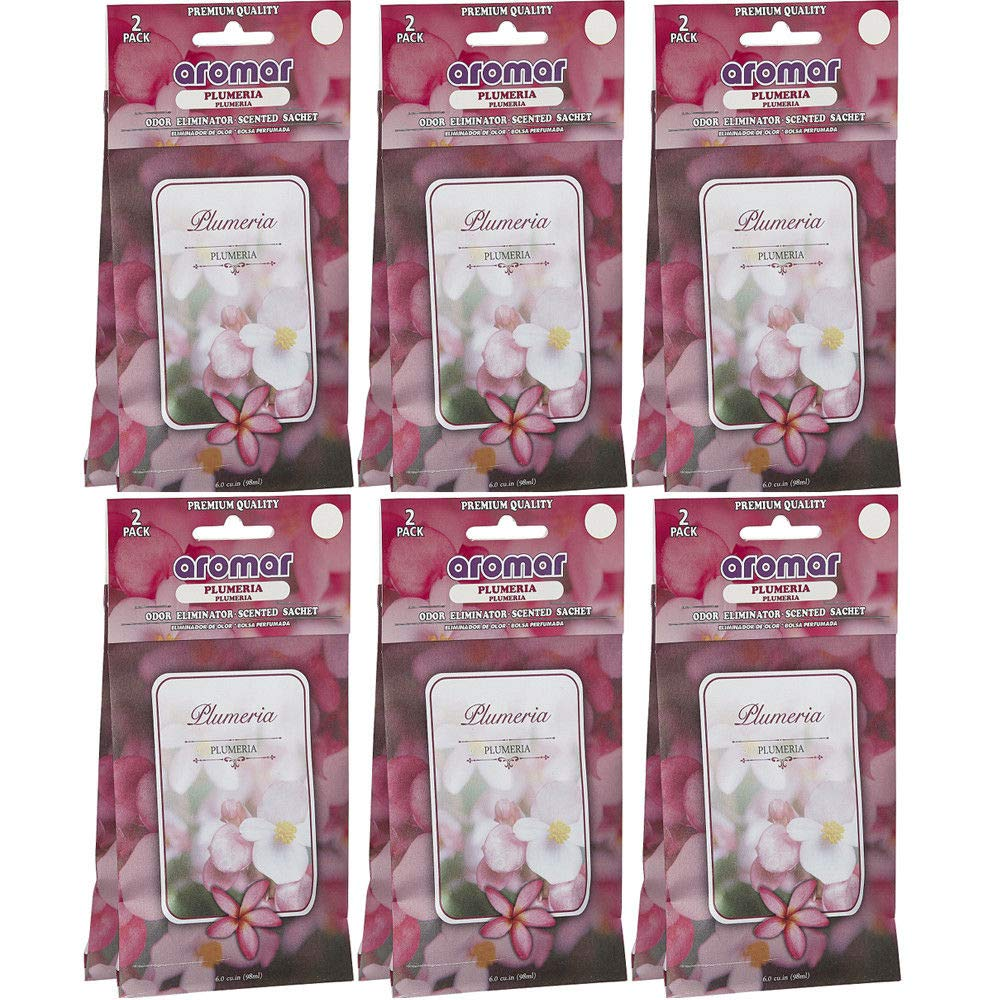 12 Pc Plumeria Flower Scented Sachet Drawer Bags Large Fresh Scent Air Freshener by National Limited Shop