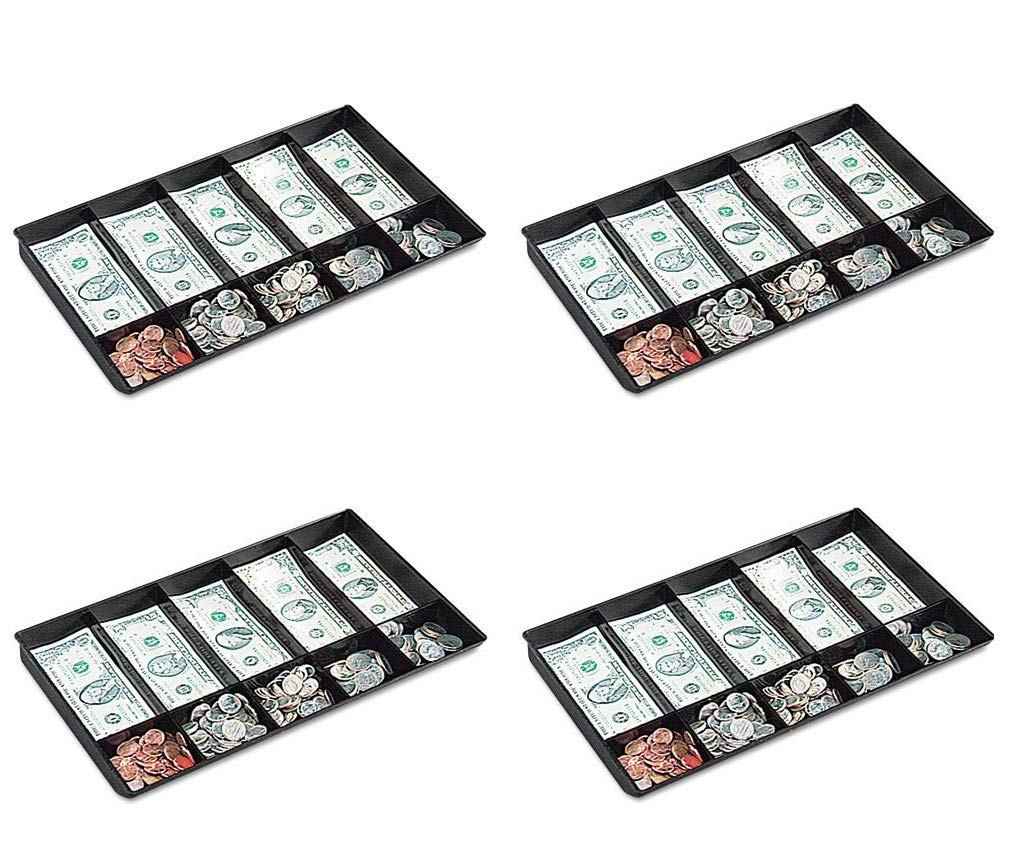 BUDDY PRODUCTS 0533-4 Cash Tray,Plastic,Black