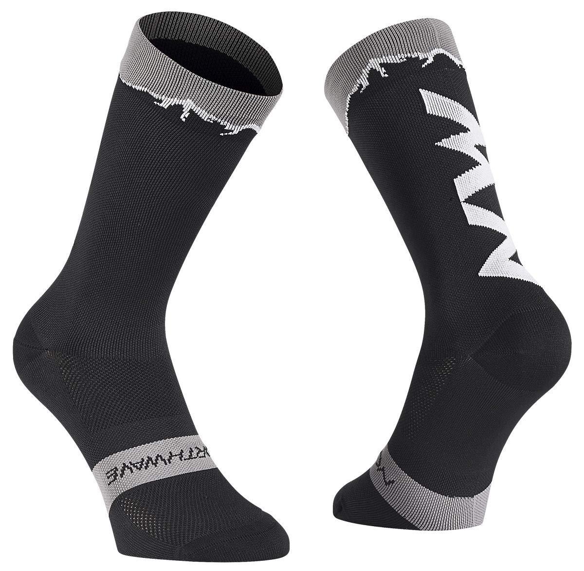 Northwave Clan Fahrrad Socken schwarz//grau 2019
