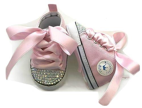86bb6228f2 BrillaBenny Scarpine Scarpe Sneakers Strass Bimba Neonato Bambina Rosa/Baby  Shoes Pink Birthday Party Events