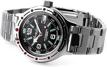Vostok 420640 2416B Reloj de pulsera automático de estilo militar ruso sumergible a 200 m: Amazon.es: Relojes