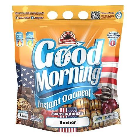 Max Protein - Good Morning Instant Oatmeal, Harina de avena, 1,5kg Bombón