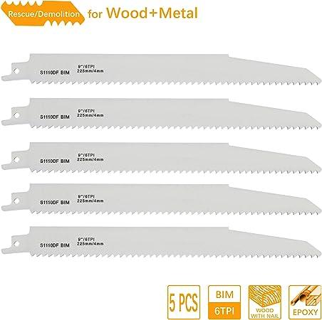 5 x Lenox Reciprocating Sabre Saw Blades Wood /& Plastic 6 inch 150mm