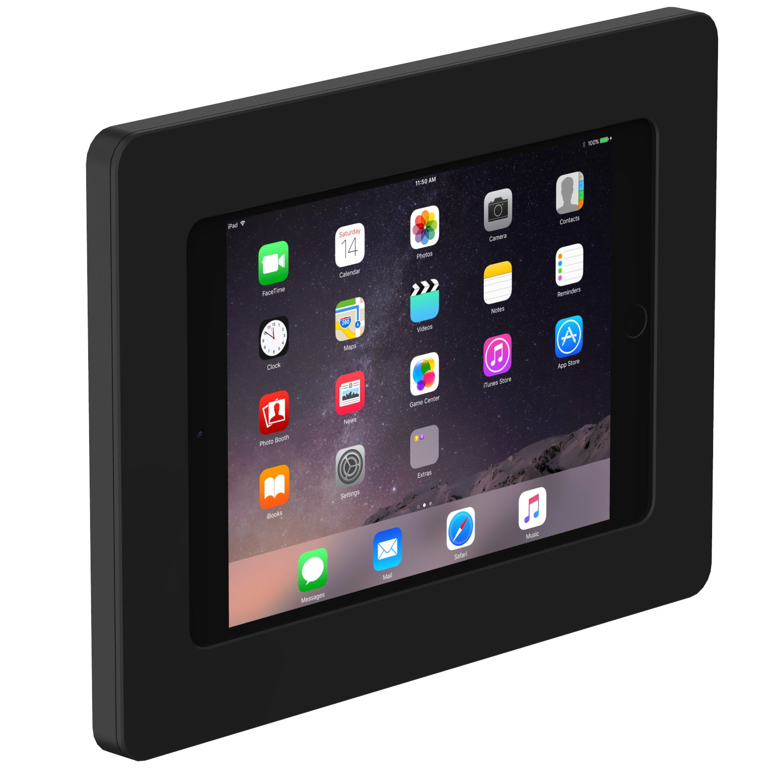VidaMount On-Wall Tablet Mount - Bundle - iPad Mini 4 - Black