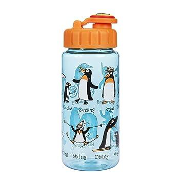 Botella con pajita- Pingüinos