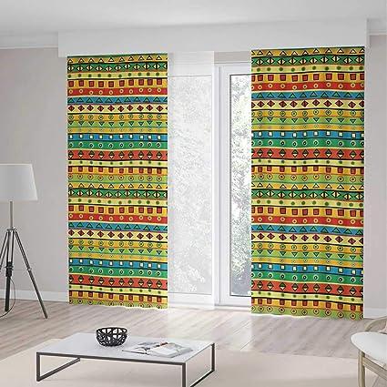 Amazon.com: TecBillion Blackout Window Curtain,Striped ...