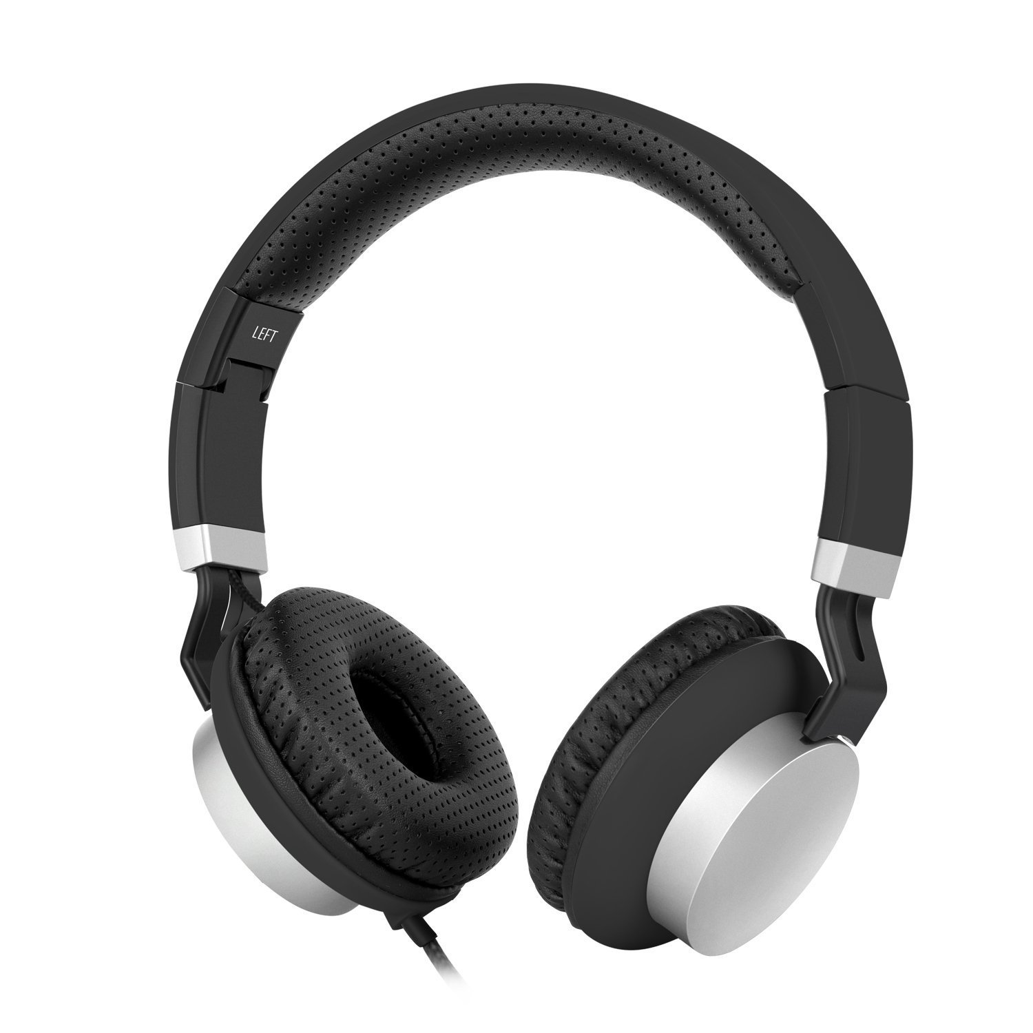 iBzera Over Ear Headphones with Volume Control, Foldable On Ear Headset with Microphone, Comfortable Lightweight Wired Headphones for Computer Laptop iPhone iPod Mp3/4