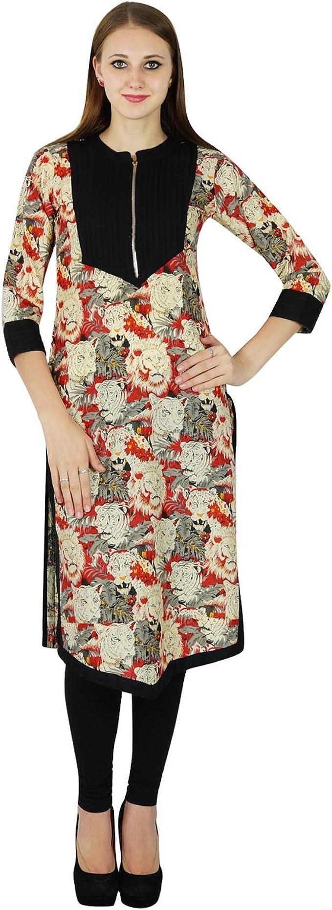 Women ethnic cotton designer kurti printed tunic top