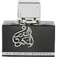 Lattafa - Agua de perfume Al Dur Al Maknoon con jazmín, pachuli y afrutado, 100 ml