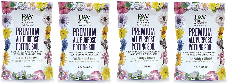 Premium All Purpose Potting Soil, 1.5 cu. ft. Bag (Fоur Paсk) by Proven Winners