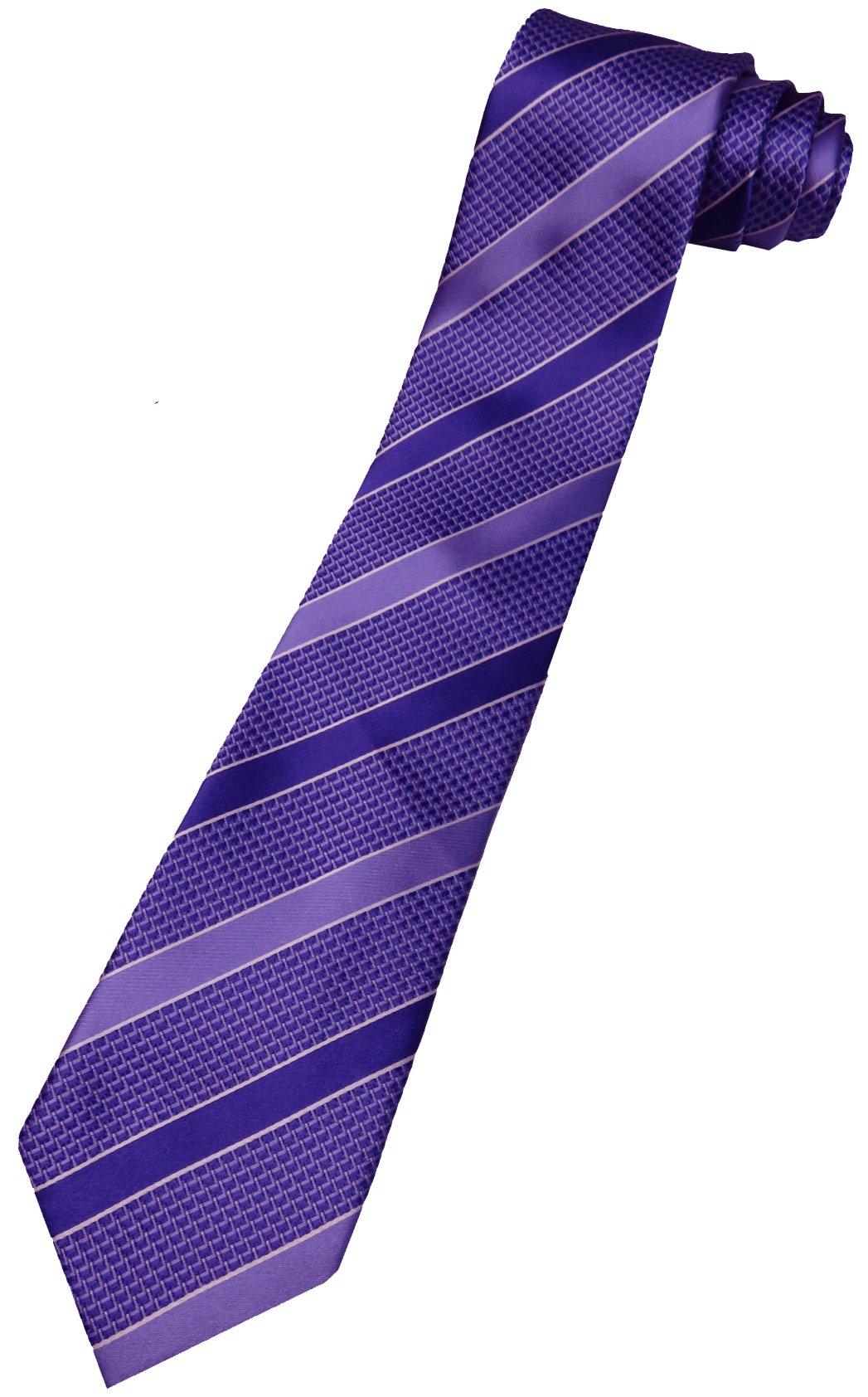 Donald Trump Neck Tie Purple and Silver