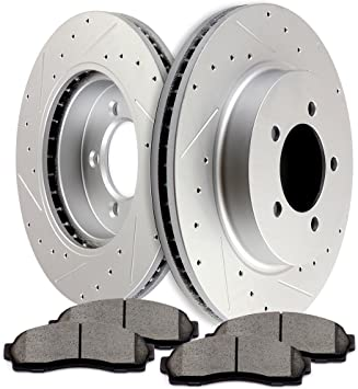 2002 2003 2004 Mercury Mountaineer Rotors Ceramic Pads F OE Replacement