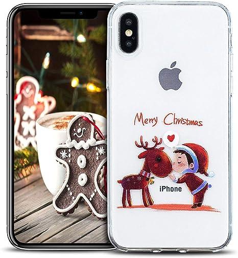 Cover iPhone XS Max alberi di natale rosso Le migliori cover per
